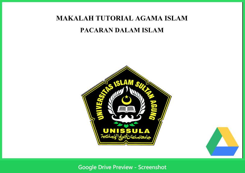 Contoh Makalah Agama Tentang Pacaran Dalam Islam