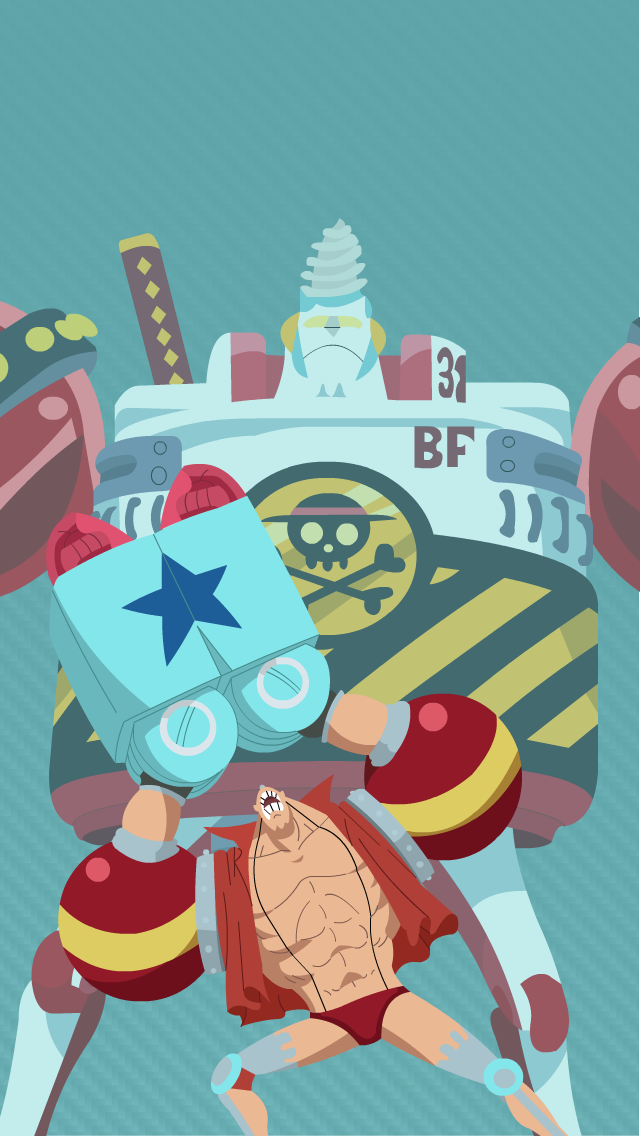 Iphone One Piece Franky Wallpaper Doraemon