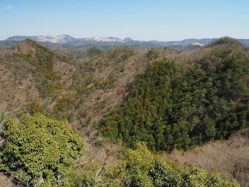 二床山と高松山