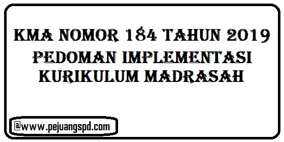 KMA nomor 184