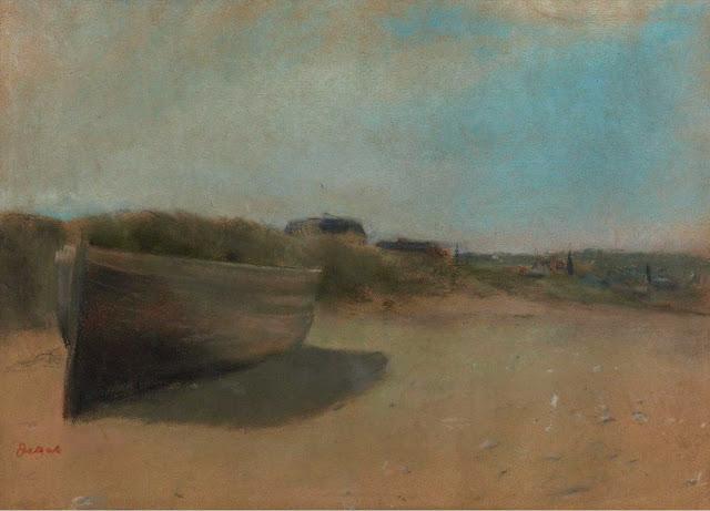 Эдгар Дега - Лодка на песке (1869)