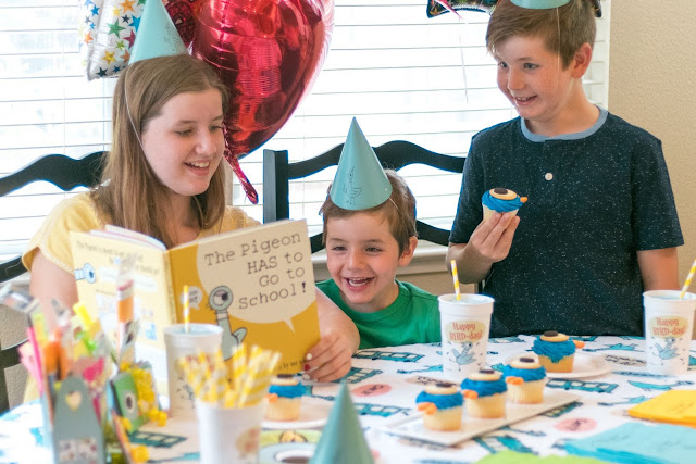 A Party For The Pigeon HAS to Go to School! Book by Mo Willems!