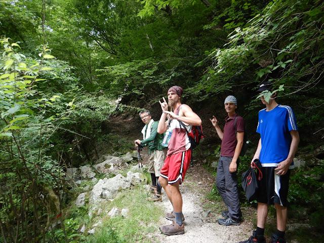 ジェイホッパーズ登山部活動イン谷口よりスタート