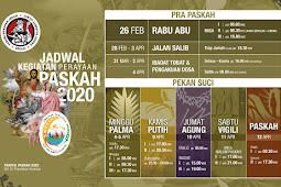Jadwal Rangkaian Paskah 2020