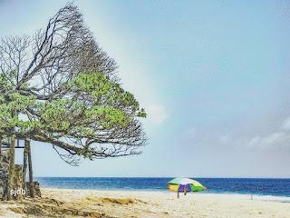 penginapan, rute, tikwt, camping, foto, sunset, pantai Po Tunggal