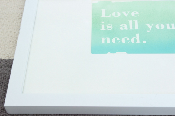 Greeting card art is super affordable and can be temporary