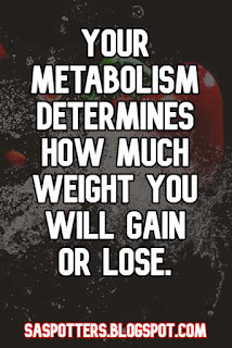 Your metabolism determines how much weight you will gain or lose.