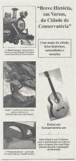Capa do folder com a história de Conservatória