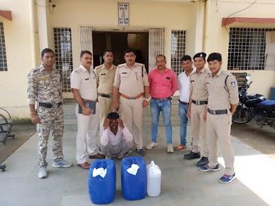 अबैध शराब सहित आरोपी कप्तान जाटव गिरफ्तार | Indar News