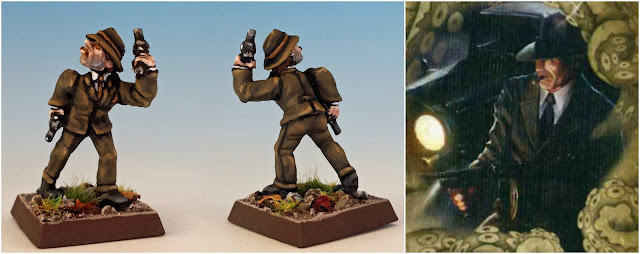 Michael McGlen the gangster painted miniature