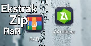 Cara Membuka atau Ekstrak file Zip dan Rar di Android