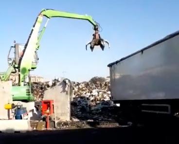 Impianto di stoccaggio dei rifiuti in via Nuova delle Brecce