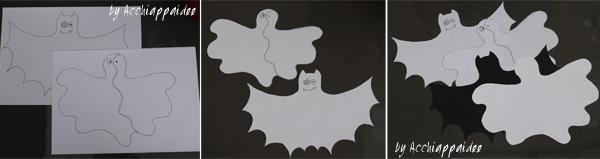 tutorial 1 sagoma pipistrello e fantasma