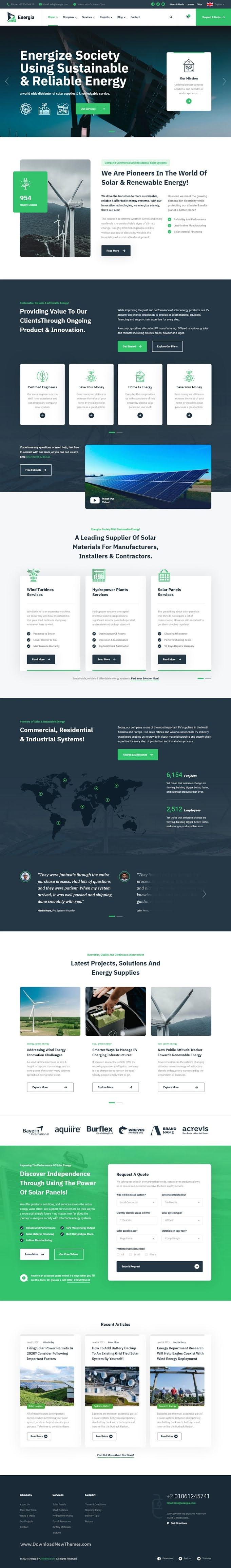 Renewable Energy Bootstrap Template