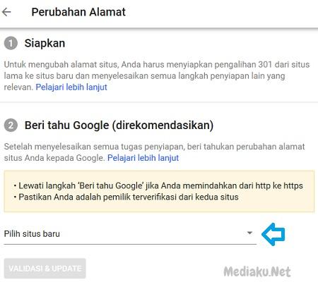 Perubahan Alamat Domain Di Google Search Console