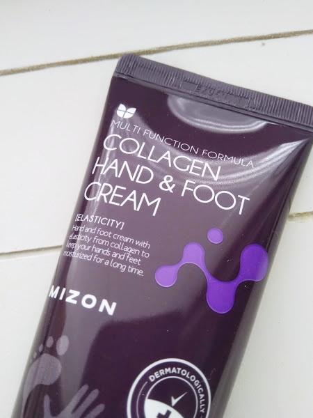 mizon collagen hand foot cream kasivoide jalkavoide