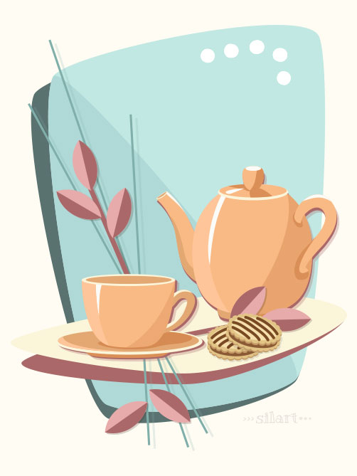 Afternoon Tea, Vektorgrafik, Vector