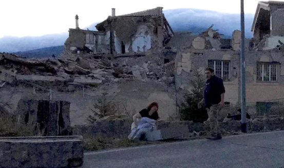 earthquake buries entire town italy