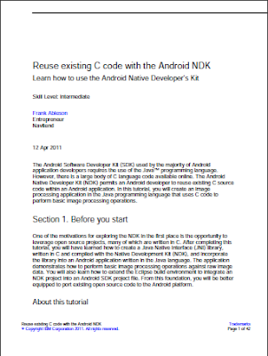 Reuse existing C code with the Android NDK