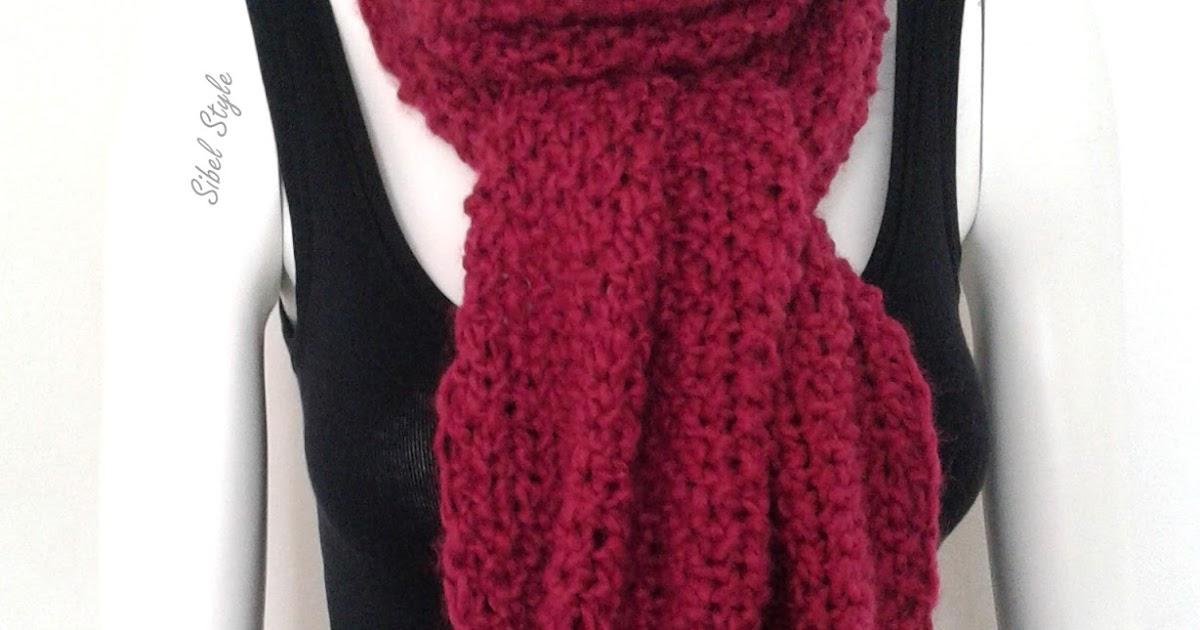 sibel style echarpe avec deux gros pompons pour femme au tricot fait main coloris rose fonc. Black Bedroom Furniture Sets. Home Design Ideas