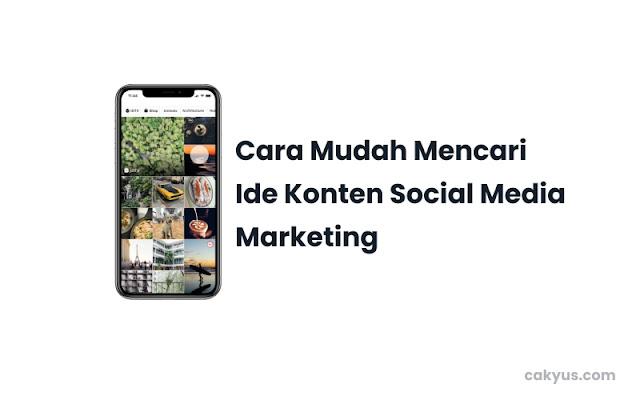 Cara Mencari Ide untuk Konten Mediaa Sosial Instagram
