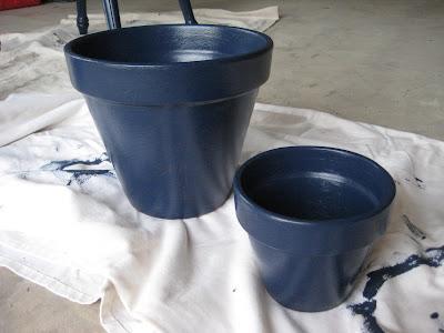 Navy flower pots
