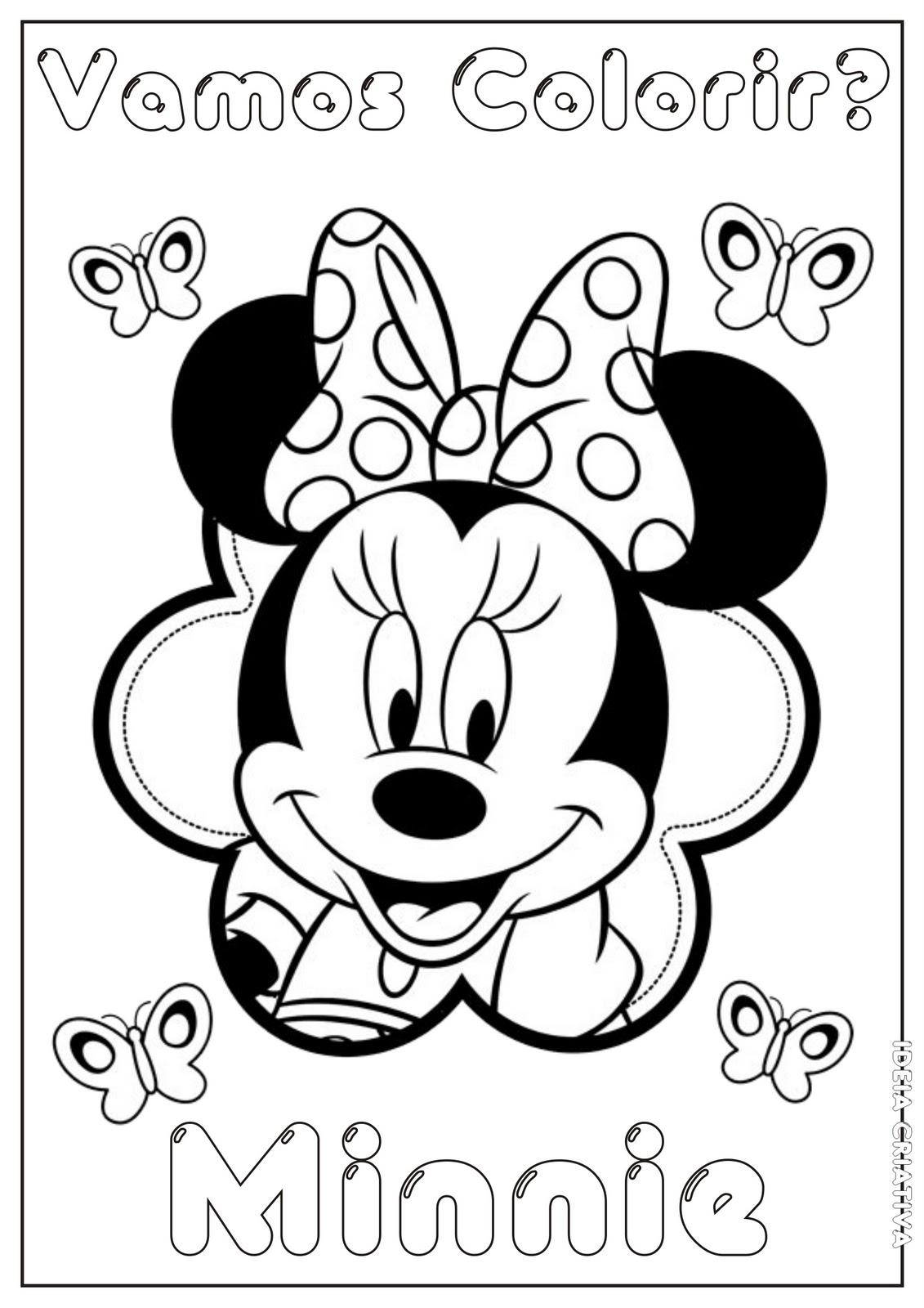 Dibujos De Minnie Para Colorear E Imprimir Imagesacolorier