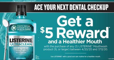 $5/1 Listerine Mouthwash Rebates *HERE*