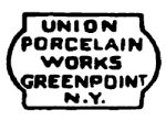 Black and White Union Porcelain Works Logo