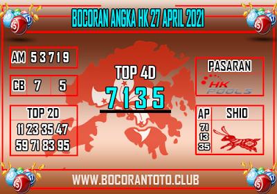 Bocoran HK 27 April 2021