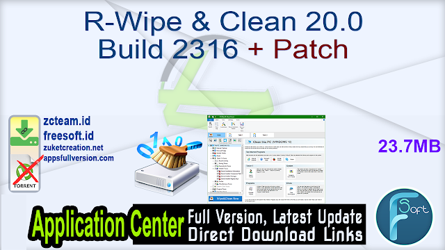 R-Wipe & Clean 20.0 Build 2316 + Patch_ ZcTeam.id