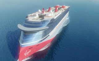 Artist Rendering Circulating on the internet of the Virgin Voyages Cruise New Cruise Ship.