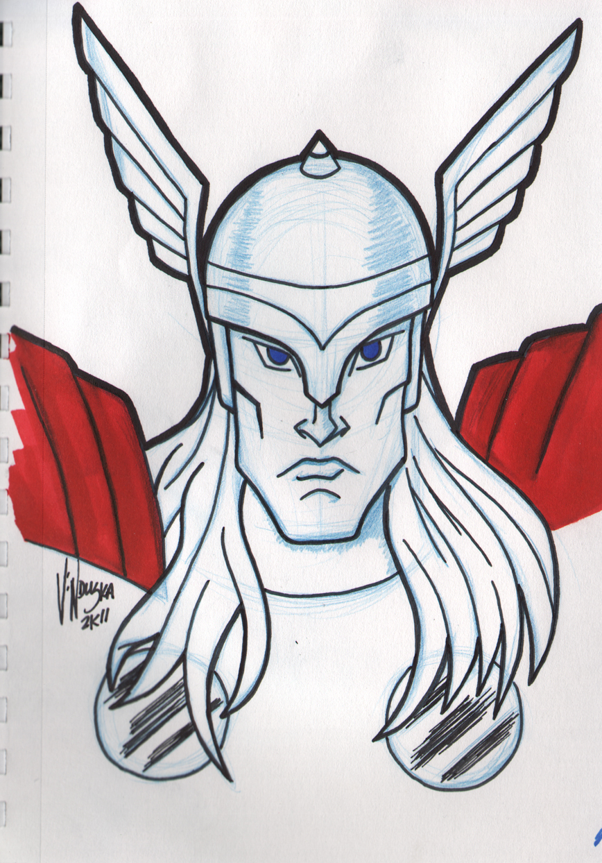 easy thor drawings - photo #38
