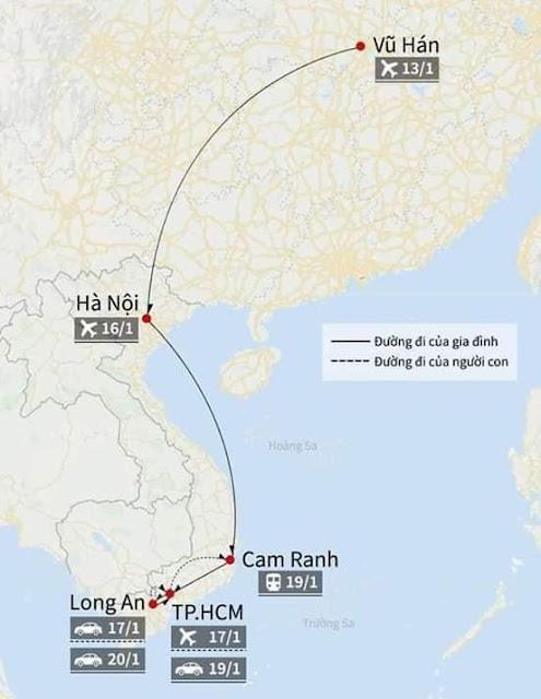 Hành trình của 2 cha con người Trung Quốc nhiễm virus Corona