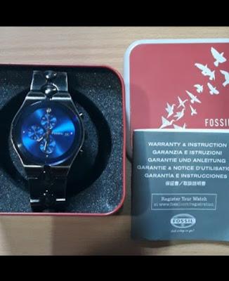 1. Fossil Mens Arkitekt Blue Steel Bracelet Chronograph Diamond Watch FS2920