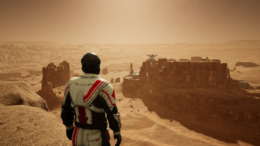 Memories of Mars game image - human base on Martian mesa