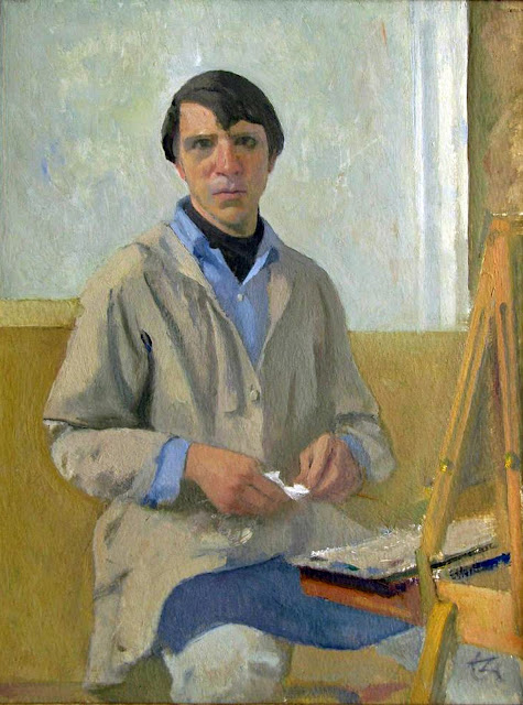 Lennart Anderson, Self Portrait, Portraits of Painters, Fine arts, Portraits of painters blog, Paintings of Lennart Anderson, Painter Lennart Anderson