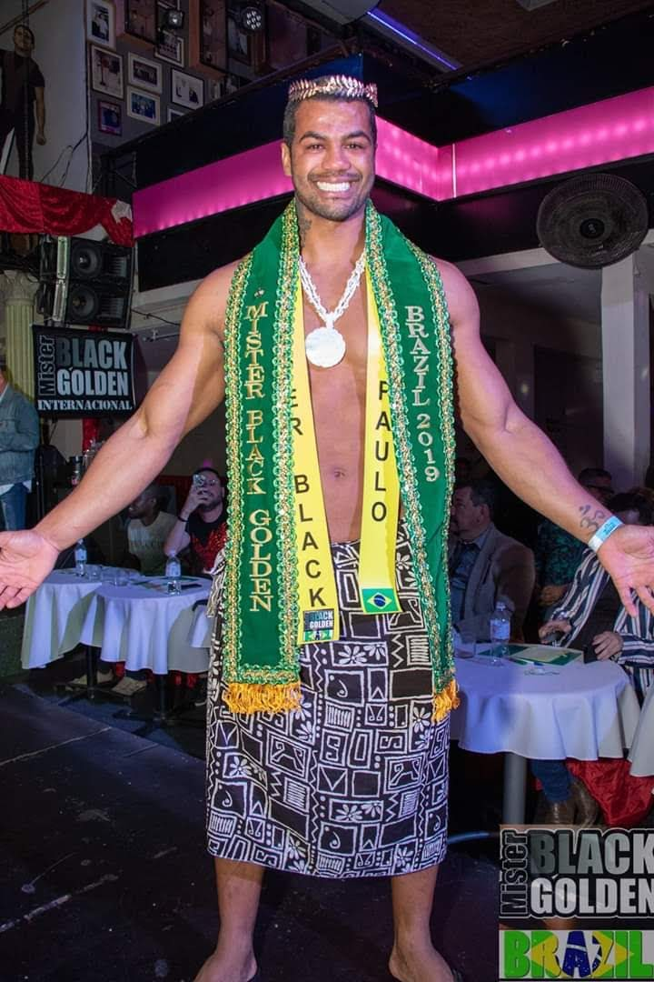 Renan Santiago é eleito Mister Black Golden Brazil 2019. Foto: Neobeck Benedito