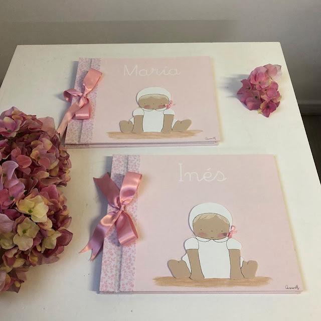 álbum-fotos-bautizo-bebé-rosa
