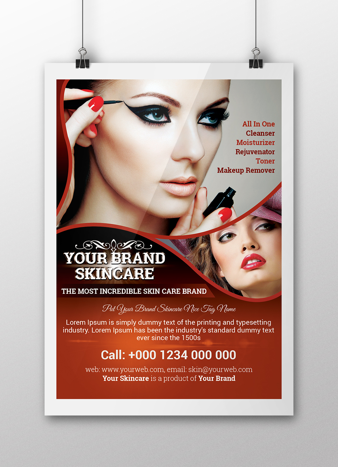 INSTANT DOWNLOAD For This Skincare Beauty Salon And Spa Flyer Template Payment Method Paypal