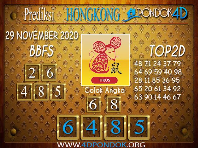 Prediksi Togel HONGKONG PONDOK4D 29 NOVEMBER 2020