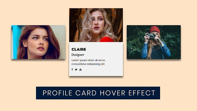 Flexbox Profile card hover Effect | CSS Flexbox Tutorial
