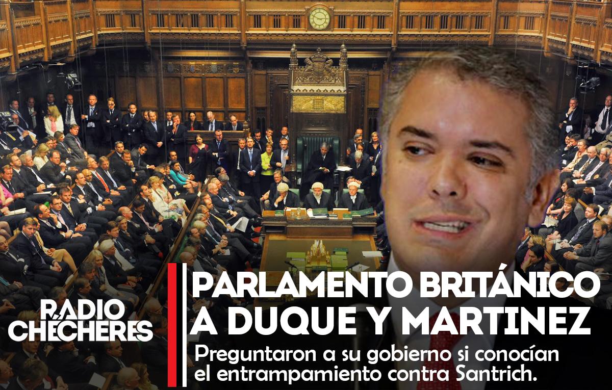 """Duras críticas del Parlamento Británico al gobierno colombiano y exfiscal Martínez por """"entrampamiento... atacar a la #JEP """""""