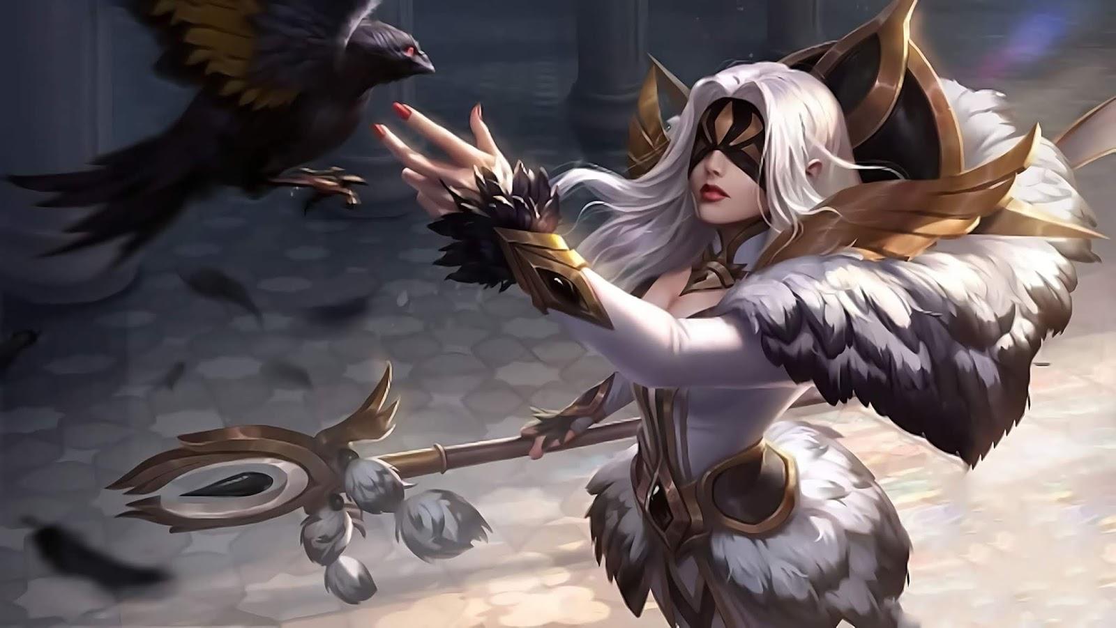 Wallpaper Pharsa Wings of Heaven Skin Mobile Legends HD for PC