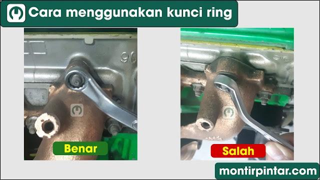 Cara menggunakan kunci ring