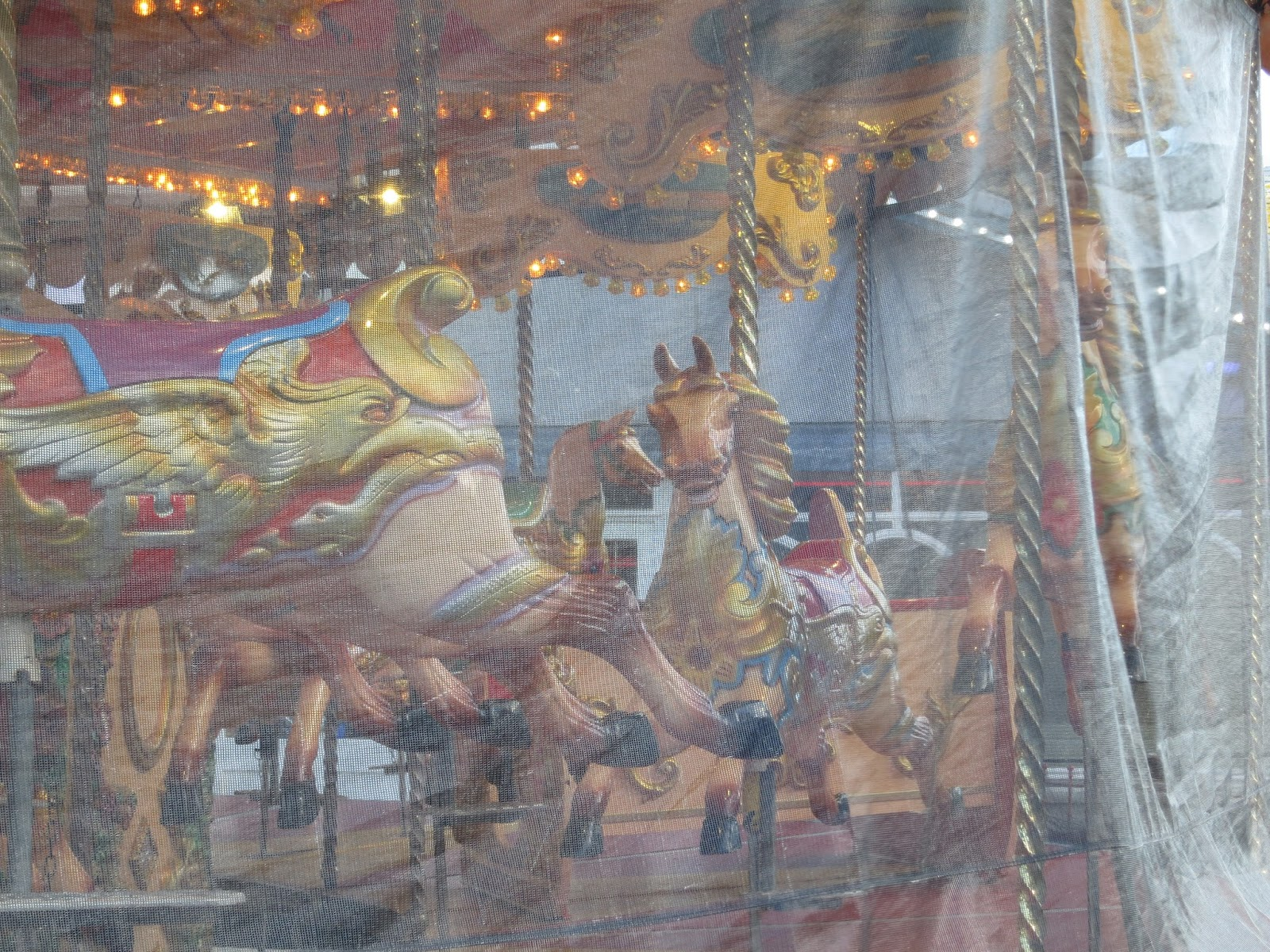 Merry-go-Round in Alexandra Gardens, Weymouth, Closed.