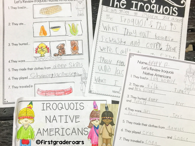 Native American Mini Book and Activities