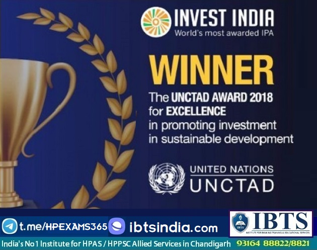 08 Dec 2020 - Daily Current Affairs Invest India wins 2020 United Nations Investment Promotion Award
