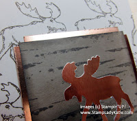 Card made with Stampin'UP!'s Merry Moose Stamp Set and Moose Punch and Copper Foil Paper