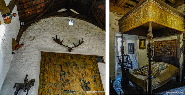 Salão principal e dormitório do Castelo de Bunratty, Limerick, Irlanda